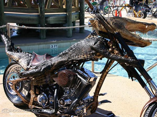 WTF! – A Crocodile Bike!