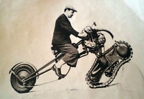 WTF! – A Tracked Motorcycle