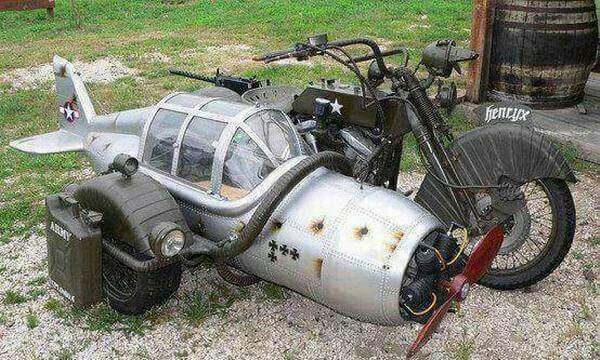 WTF! – a plane, a sidecar, who knows?
