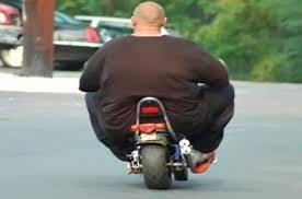 WTF! Dude get a bigger bike!